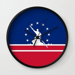 Richmond  city flag united states of america Virginia Wall Clock