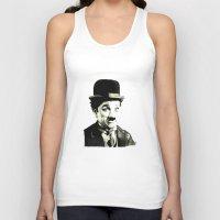 charlie chaplin Tank Tops featuring Charlie Chaplin by Lauren Randalls ART