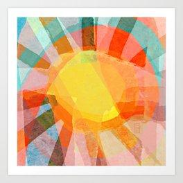 Sunbeams Art Print