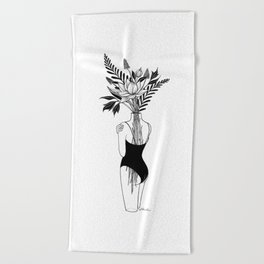 Fragile Beach Towel