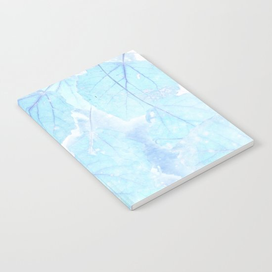Blue autumn leaves Notebook