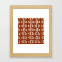 Burnt Sienna Pattern Design Framed Art Print