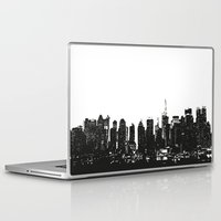 wwe Laptop & iPad Skins featuring New York black and white high quality art print by eARTh