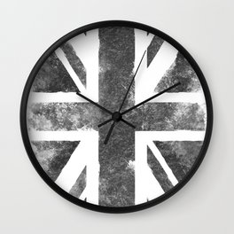United Kingdom Gray Vintage flag Wall Clock