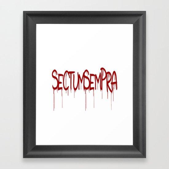 Sectumsempra Framed Art Print