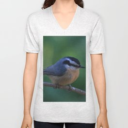 A Red Breasted Nuthatch Unisex V-Neck