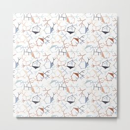 Chaotic Particle Physics on White Metal Print