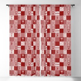 Jungle Friends Shades of Burgundy Cheater Quilt Blackout Curtain