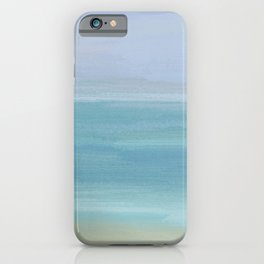Seashore With Beautiful Calm Ocean iPhone Case