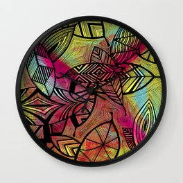 Crazy Leaves  Wall Clock