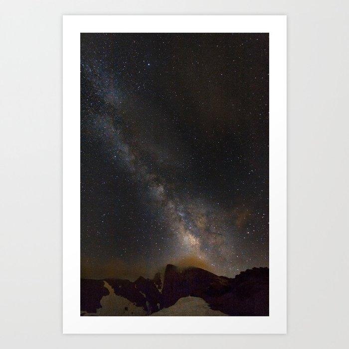 Milky way at 3400 meter hight. Scorpius and Sagitarius Art Print