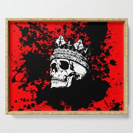 Skulking Skull King Serving Tray