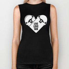 Live Love SK8 - Skateboard Biker Tank