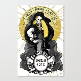 Deus Foil Canvas Print