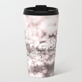 Shiny rose sparkling bokeh Travel Mug