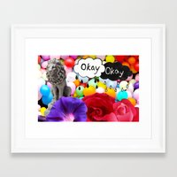 okay Framed Art Prints featuring okay... by Aldo Couture