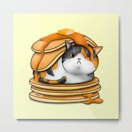 Kitty Pancakes Metal Print