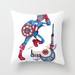 Captain A, the first Avenger Throw Pillow