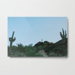 Arizona Desert Moon Metal Print