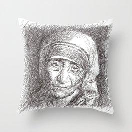 Mother Teresa Throw Pillow