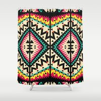 tribal Shower Curtains featuring Tribal by Ornaart