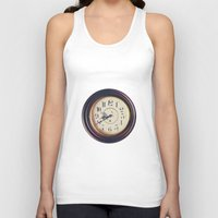wall clock Tank Tops featuring Old wall clock by Elisabeth Coelfen