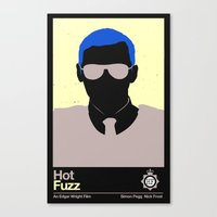 hot fuzz Canvas Prints featuring Hot Fuzz Minimalist Poster (Edgar Wright Series) by Ryan Polly