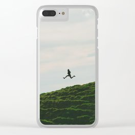MAN - RUNNING - DOWNHILL Clear iPhone Case