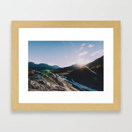 Glacial Meltwater Sunrise - Kenai Fjords National Park Framed Art Print