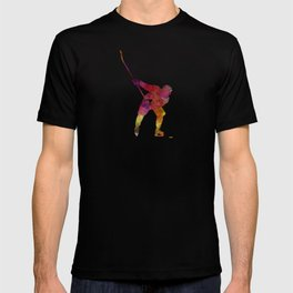 Hockey man player 02 in watercolor T-shirt