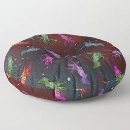 Squids in Space Floor Pillow