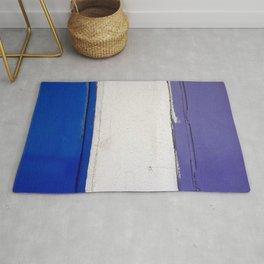 Blue White Blue Rug