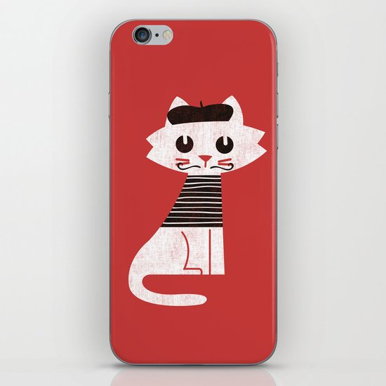 Mark the cat goes to Paris iPhone & iPod Skin