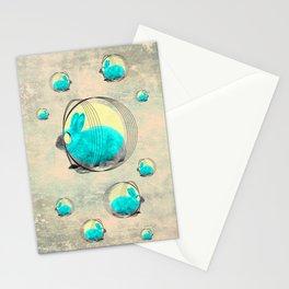 hypnotic rabbit Stationery Cards
