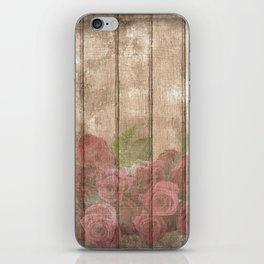 Vintage Shabby Chic Elegant Country Wine Roses iPhone Skin