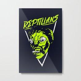 Reptilians Metal Print