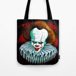 The Dancing Clown - Pennywise IT - Vector - Stephen King Character Tote Bag