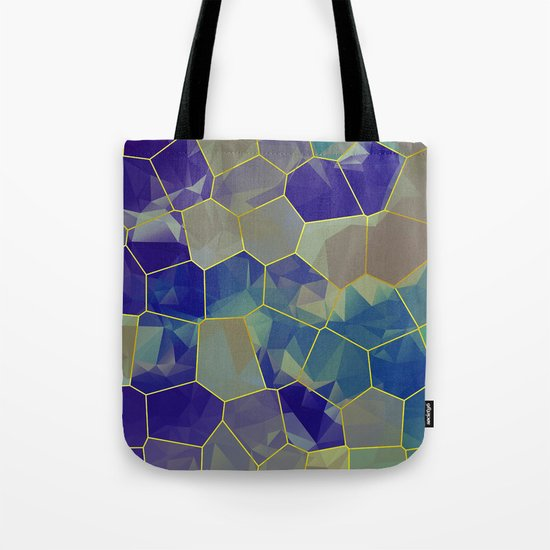 Stained Glass Polygons Tote Bag