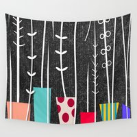 plants Wall Tapestries featuring Wild Plants by Danny Ivan