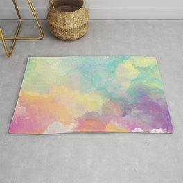 Colorful Watercolor Cloud Rug