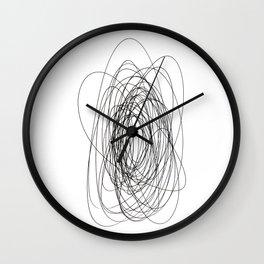 scrawl abstract drawing Wall Clock