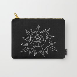 Black-and-white peony Carry-All Pouch