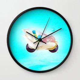 Time Bunny Girl and Art Robo Wall Clock