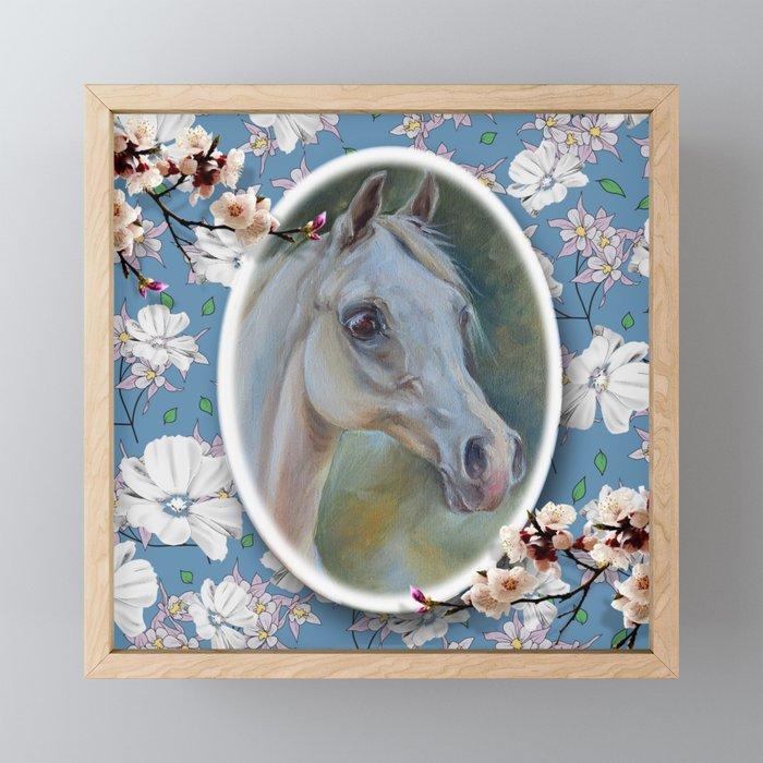 Spring Horse Framed Mini Art Print