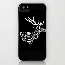 Rim Rock Ranch Deer in Black and White iPhone Case