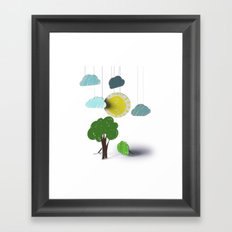 Sunny Day 3D Paper Craft Framed Art Print