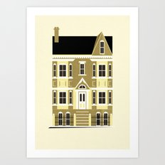 A house (olive option) Art Print
