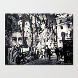 Rock n Roll Streets Canvas Print