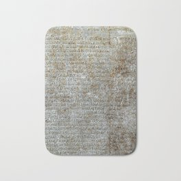 Metal plate with old-slavonic text Bath Mat
