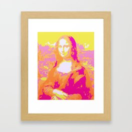 Monna Lisa in Pink/Yellow Framed Art Print